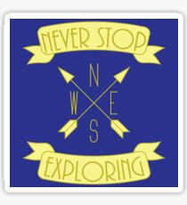 Pegatina Nunca dejes de explorar