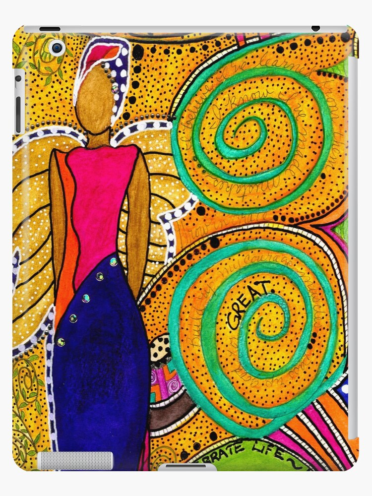SPARKLE The Angel of Twinkling Thoughts - iPad Cover by © Angela L Walker