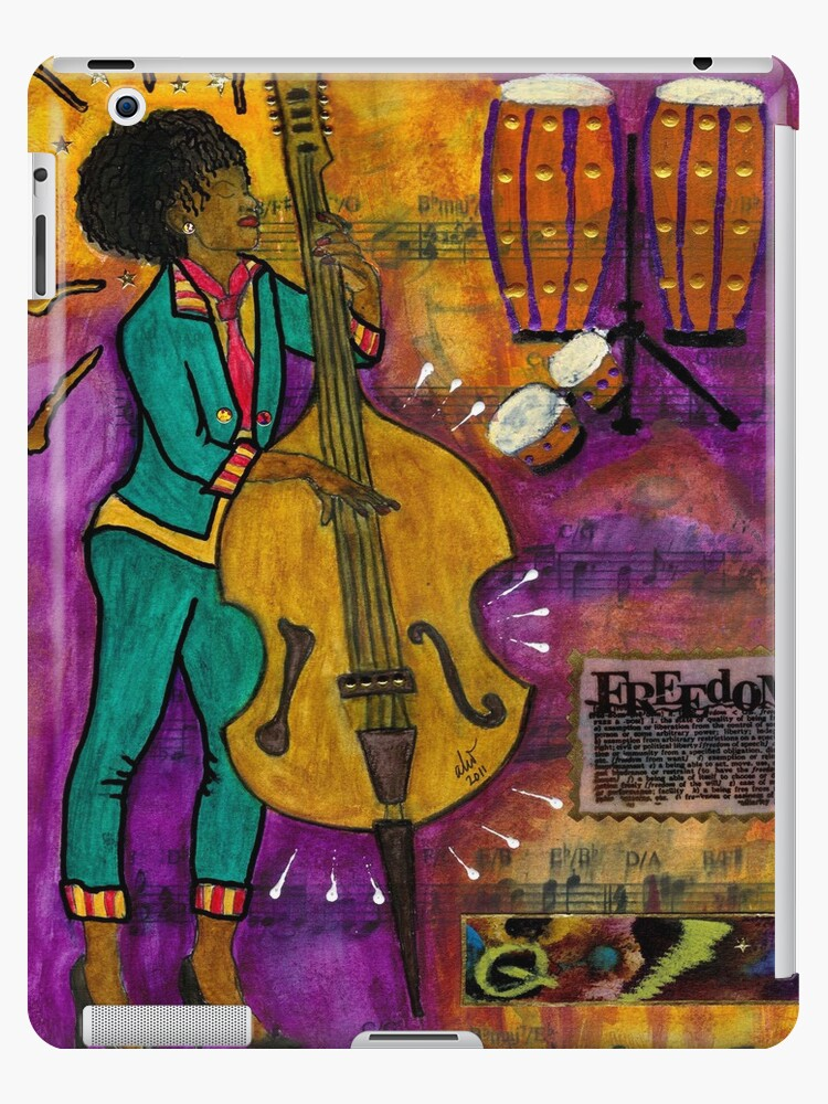 That Sistah on the Bass - iPad Cover by © Angela L Walker