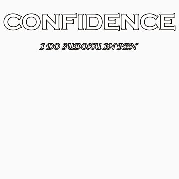 Confidence - Sudoku in pen by flip20xx