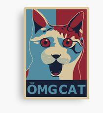 The OMG Cat Canvas Print