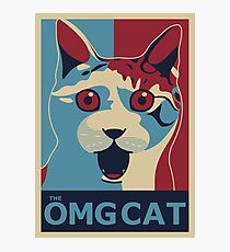 The OMG Cat Photographic Print