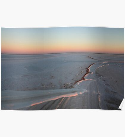 Golden Hour on Lake Eyre Poster