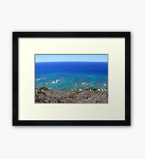 The Earth IS Round Framed Print