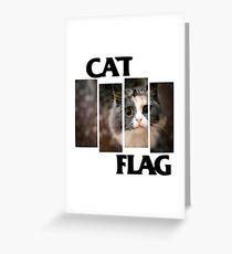 Cat Flag Greeting Card