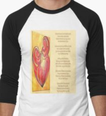 A Canvas Of My Love, My Heart, My Wife Greeting Card Men's Baseball ¾ T-Shirt