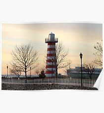 Lefrak Point lighthouse Jersey City Newport Poster