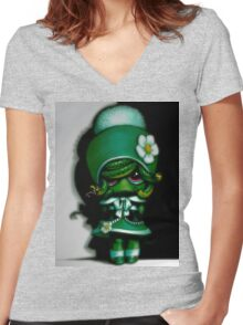 Lil' Medusa Women's Fitted V-Neck T-Shirt