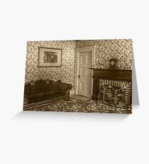 Downstairs Sitting Room, Lizzie Borden's House Greeting Card