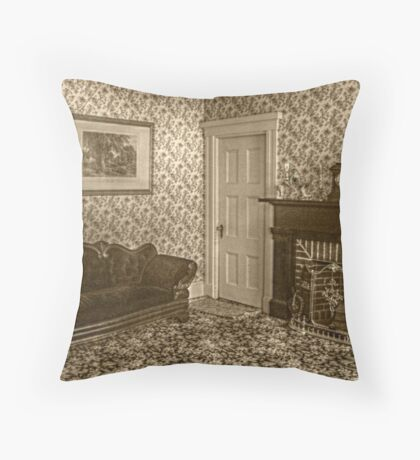 Downstairs Sitting Room, Lizzie Borden's House Throw Pillow