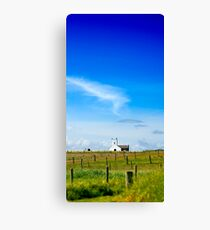 Little Church on the Hill Canvas Print