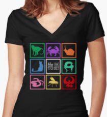 Monogatari Women's Fitted V-Neck T-Shirt