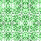Bright Green Tile Circles by pjwuebker