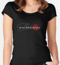 Kimi Raikkonen - Iceman (Helmet Colours) Women's Fitted Scoop T-Shirt
