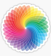 Colour Wheel Flower Sticker