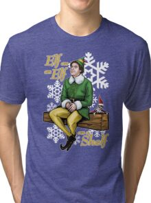 Elf on an Elf on a Shelf Tri-blend T-Shirt