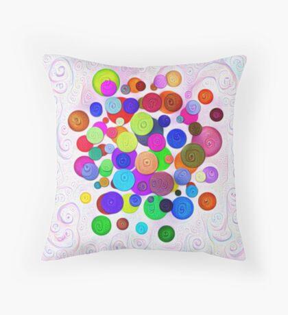 #DeepDream Color Circles Visual Areas 5x5K v1448388480 Throw Pillow