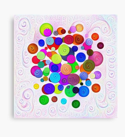 #DeepDream Color Circles Visual Areas 5x5K v1448388480 Canvas Print