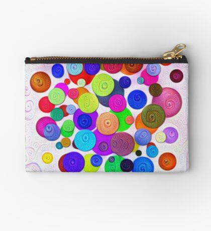 #DeepDream Color Circles Visual Areas 5x5K v1448388480 Zipper Pouch