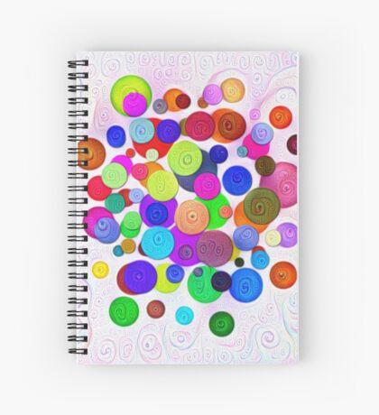 #DeepDream Color Circles Visual Areas 5x5K v1448388480 Spiral Notebook