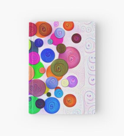 #DeepDream Color Circles Visual Areas 5x5K v1448388480 Hardcover Journal
