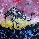 Jar Ostrich by Ellen Marcus