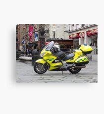 Ambulance Motorbike Canvas Print