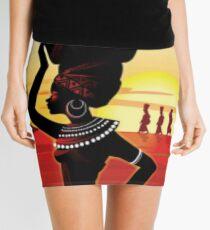 Die Afrikanerin Minirock