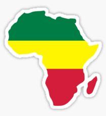 Africa map reggae Sticker