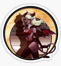 Art Nouveau Monster Girl Sticker