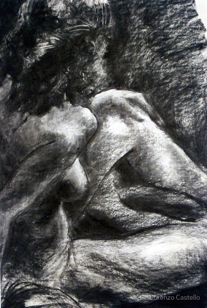 Nude seated by Lorenzo Castello