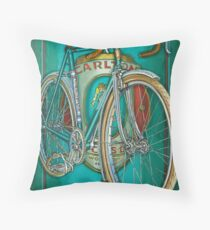 Aqua Carlton Fixed Throw Pillow