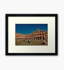 Spain. Salamanca. Plaza Mayor. Framed Print