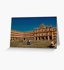Spain. Salamanca. Plaza Mayor. Greeting Card