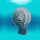 Manatee sketched using an iPad by Ray Cassel