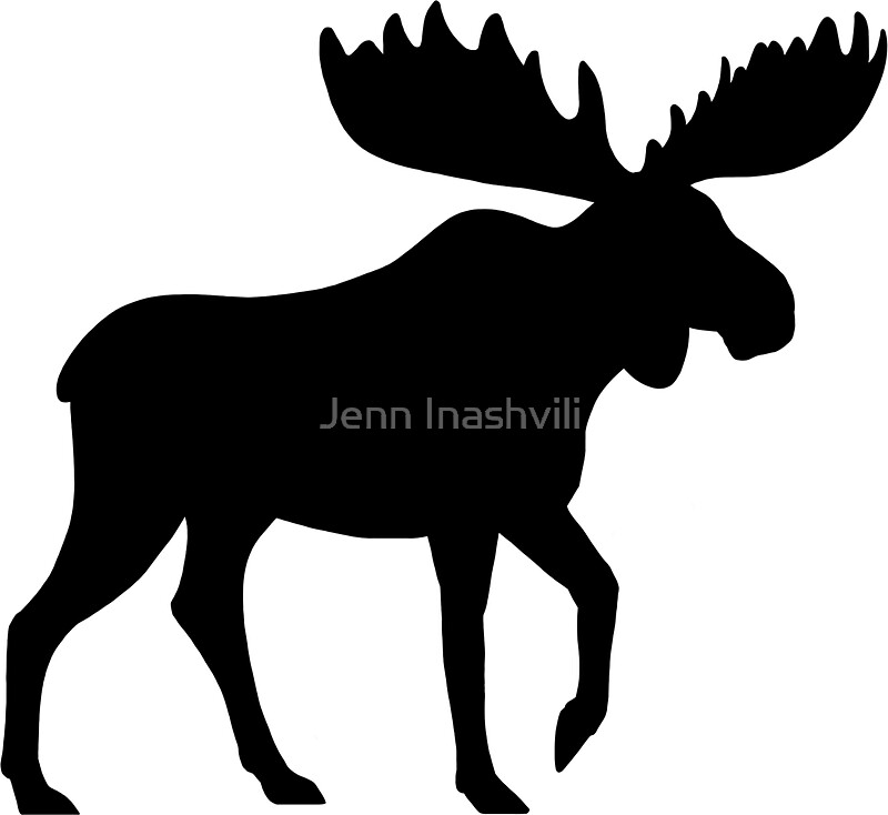 Quot Moose Silhouette S Quot Stickers By Jenn Inashvili Redbubble