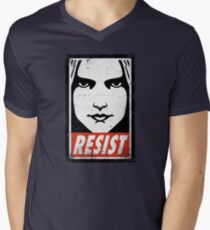 RESIST Mens V-Neck T-Shirt