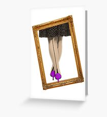 Hot Shoes - Purple! Greeting Card