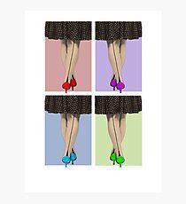 Vibrant Shoes Photographic Print