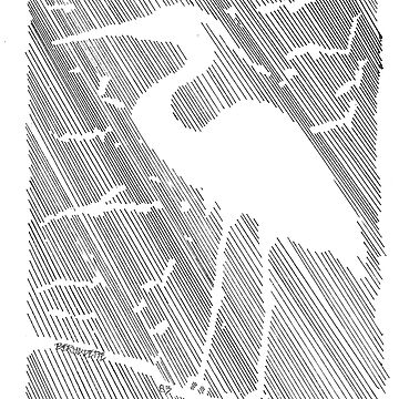 Negative Space Heron by bcrotty