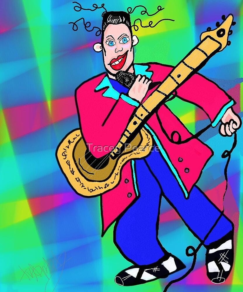 Elvis Cartoon style  by Tracey Pearce