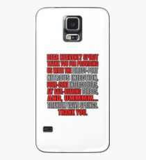 Jesse says grace: car part thanks - red Case/Skin for Samsung Galaxy