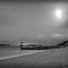 Calm shores in black and white by Mark Bunning
