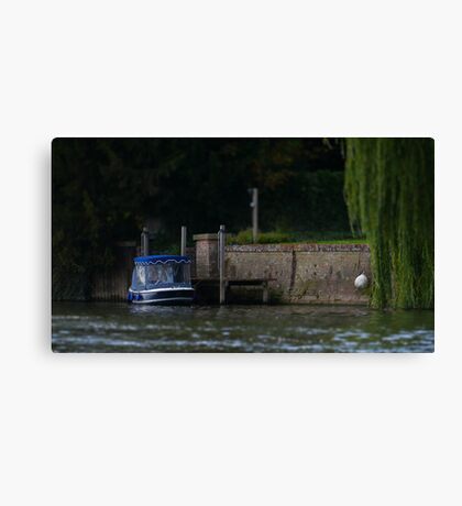 Day Boat Tilt Shift Canvas Print
