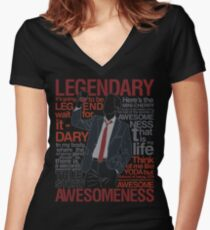 Barney Stinson - Legendary T-shirt of Awesomeness Women's Fitted V-Neck T-Shirt