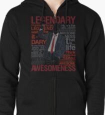 Barney Stinson - Legendary T-shirt of Awesomeness Zipped Hoodie