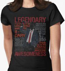 Barney Stinson - Legendary T-shirt of Awesomeness Women's Fitted T-Shirt