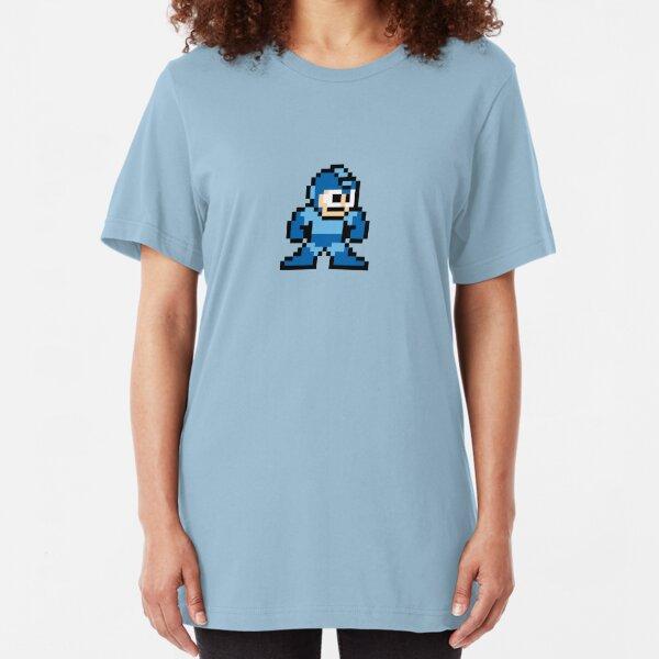 Pixel Megaman Standing Slim Fit T-Shirt