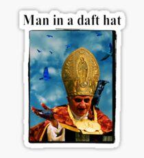 Man in a daft hat Sticker