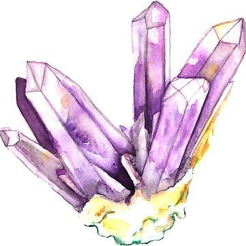 Amethyst Crystal by sadiesavesit